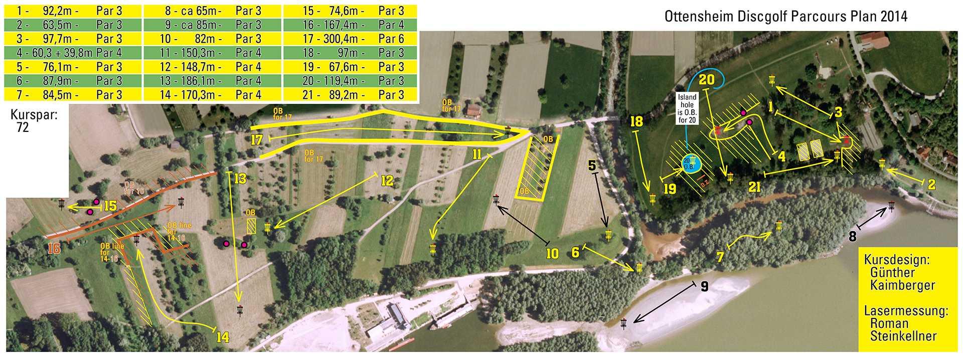 Parcoursplan Ottensheim Open 2014
