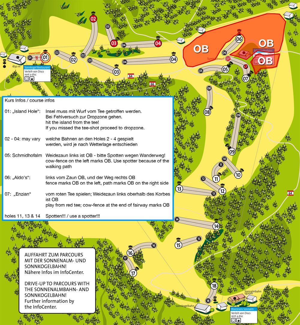 Parcoursplan Schmitten Open 2014